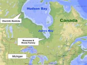 map of hudson bay canada bay