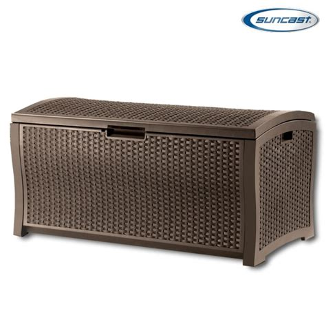 suncast dbw9935 plastic rattan deck box