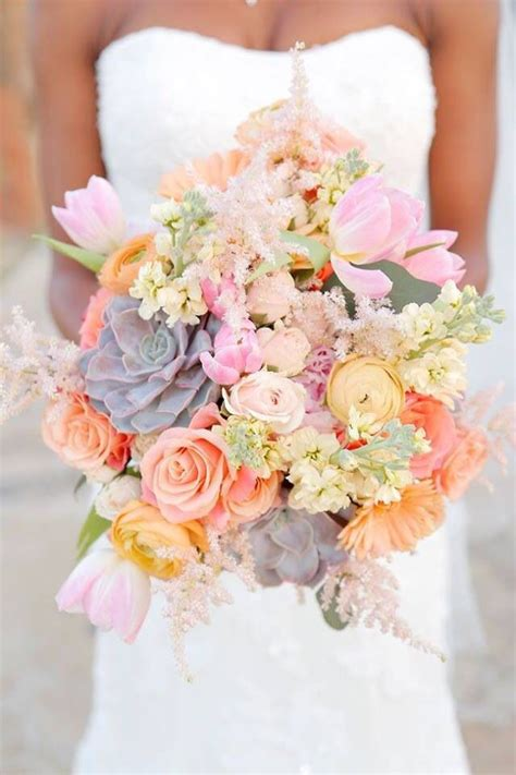 colorful spring flowers bouquet best wedding bouquets of 2014 beautiful wedding and the