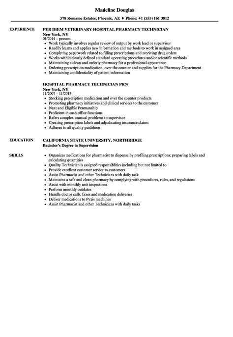 Pharmacy Student Resume Exle