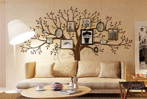 living room tree photo frames wall decal sticker wackydot living room wall decals tree wall decal wall by