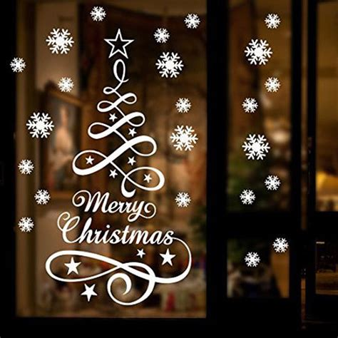 merry christmas window sign merry deers shop vinyl sticker window lettering sign new year