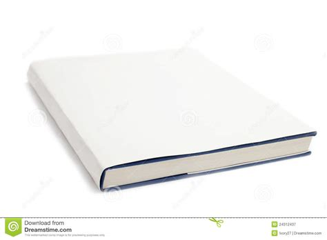 White Cover by Blank Book Cover White Royalty Free Stock Photography