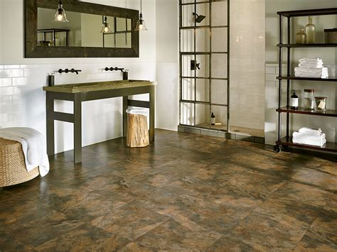 armstrong luxury vinyl tile flooring lvt slate look dark dark brown lvt flooring in
