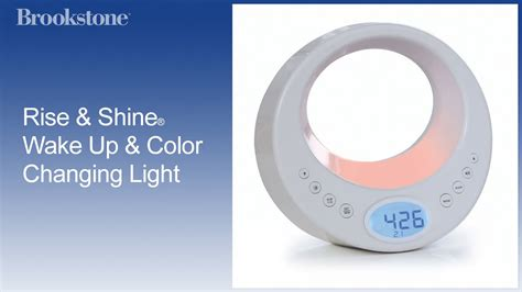 verilux rise and shine serenity wake up light rise shine 174 wake up and color changing light youtube