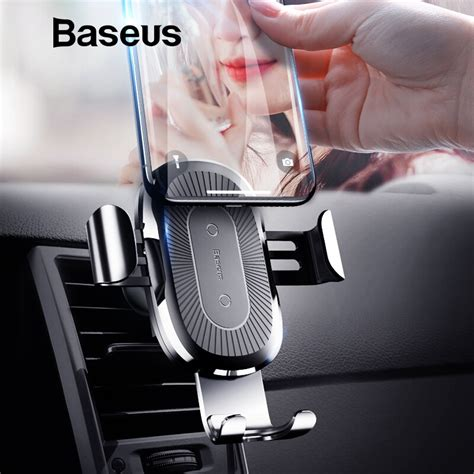 baseus qi car wireless charger  iphone   xs max xr