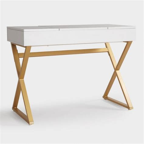 white desk with gold legs white desk x legs finest high quality white desk with x