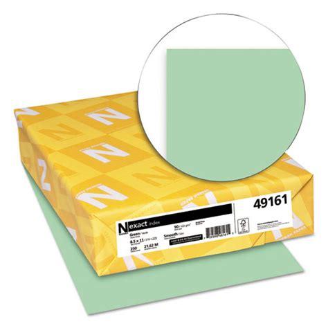 printable card stock paper exact index card stock 90lb 8 1 2 x 11 green 250