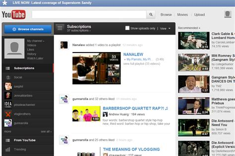 youtube homepage layout youtube and google page 2 chit chat ssmb