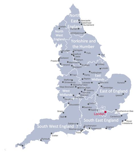 map uk with cities map of