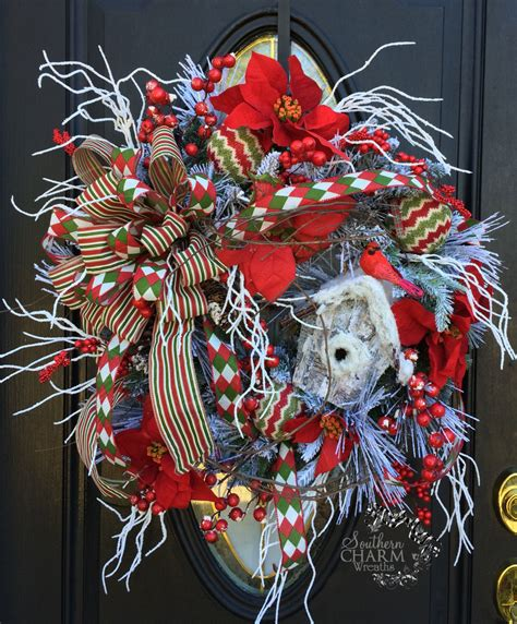 flocked christmas wreath red white christmas wreath snow