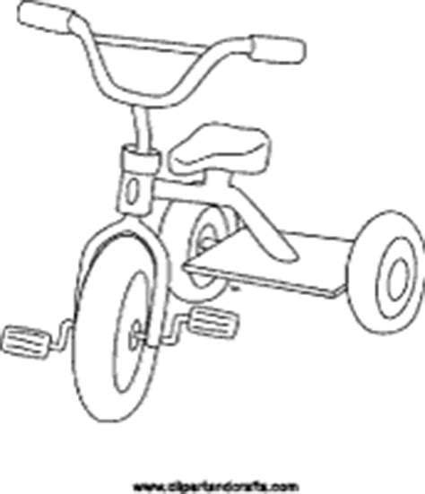tricycle coloring pages preschool printable toy tricycle coloring page or craft template