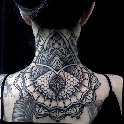cyberpunk tattoo black and grey mandala neck tattoos search