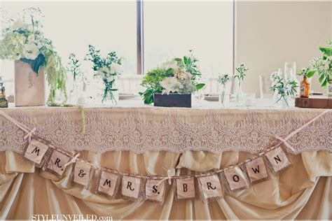 shabby chic head table shower party ideas pinterest