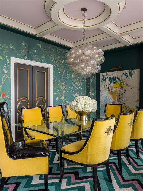 dining space featuring eclectic teal green dining chairs how to choose a wall color diy