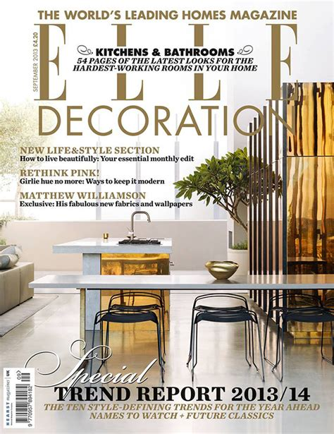 home decor styles 2014 elle decoration uk magazine cover september trend report