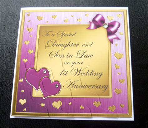 1st wedding anniversary wishes for son and daughter in law daughter son in law 1st first wedding anniversary card
