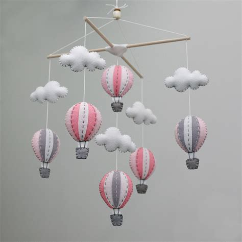 cheap air balloons baby mobile diy kit pink for