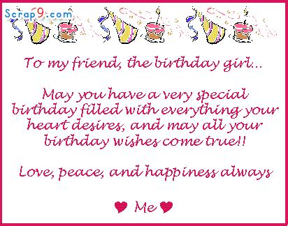 Happy Birthday To My Favorite Quotes Happy Birthday Quotes For Girls Best Friend Quotesgram