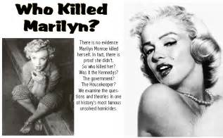 How Did Marylin Die Our World Marilyn Monroe S