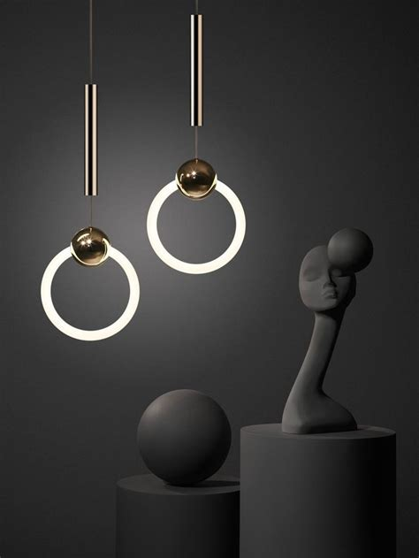 fluorescent dimmable ring light ring light by lee broom a polished brass sphere pierced