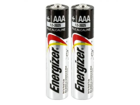 Energizer E92 Aaa energizer max e92 2shk aaa 1 5v alkaline button top