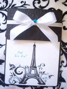 Eiffel Tower Decorations Parisian Sweet 16 Quincea 241 Era Invitations Paris French