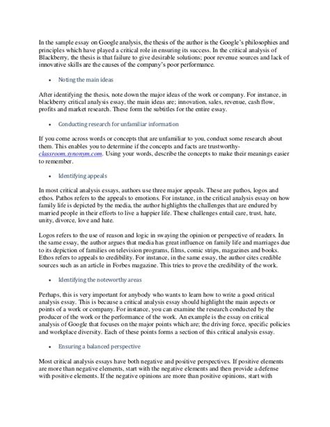 Cover Letter For Downgrade how to write a strong critical response essay