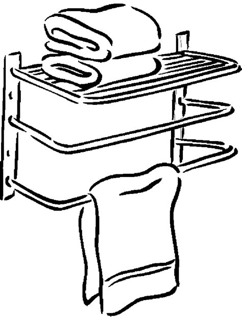 coloring page bathroom free coloring pages of towel