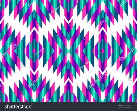 tribal pattern colorful tribal seamless colorful geometric pattern stock vector