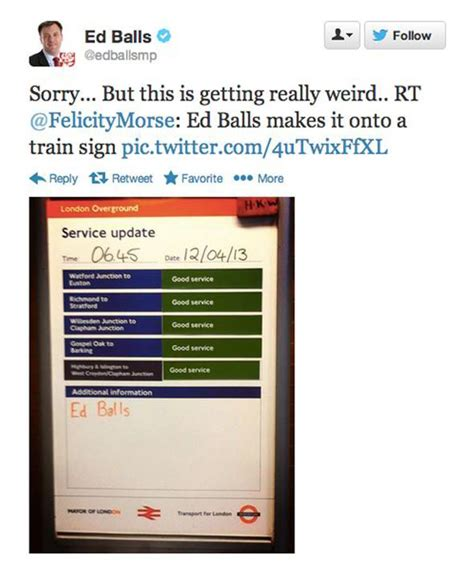 Ed Balls Meme - ed balls funniest memes london overground edballsday