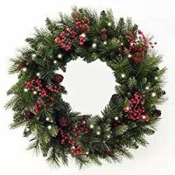 amazon com cordless led pre lit cone berry christmas