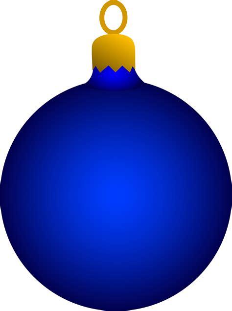 blue christmas tree ornament free clip art