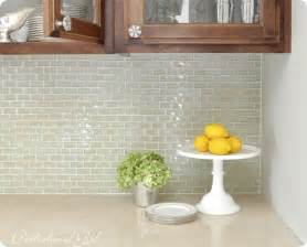 Kitchen Backsplash Glass Tile glass tile backsplash archives centsational girl kates glass tile
