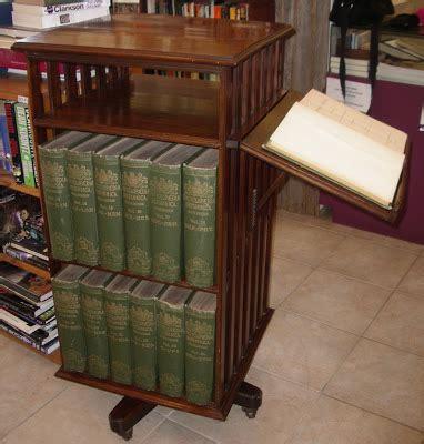 Encyclopedia Britannica Bookcase Rainy Day Books Revolving Bookcase Complete With