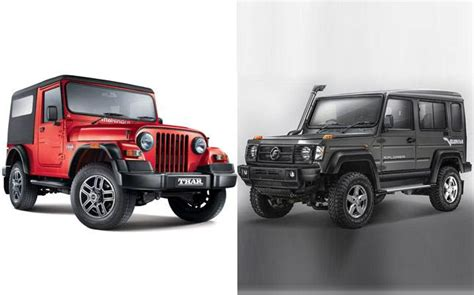 mahindra jeep 2017 2017 gurkha vs mahindra thar comparisons