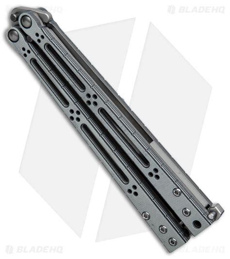 hom design hom design basilisk r balisong butterfly knife gray black
