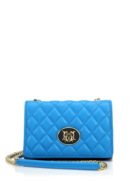 light blue crossbody bag lyst love moschino quilted faux leather crossbody bag in