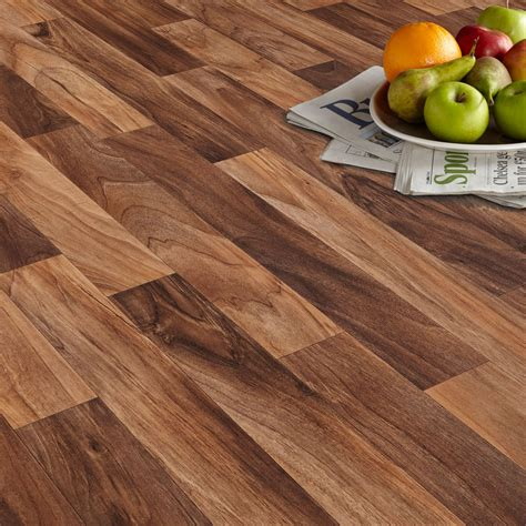 18x vinyl floating floor arezzo walnut effect matt vinyl flooring 4 m 178 departments diy at b q