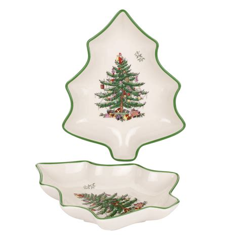 spode christmas tree set of 2 tree shaped dishes 25 you