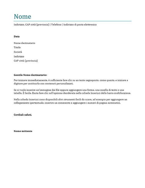 lettere esempio lettera di presentazione office templates