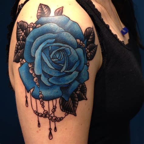 blue roses tattoo 20 shoulder ideas for you to try moon