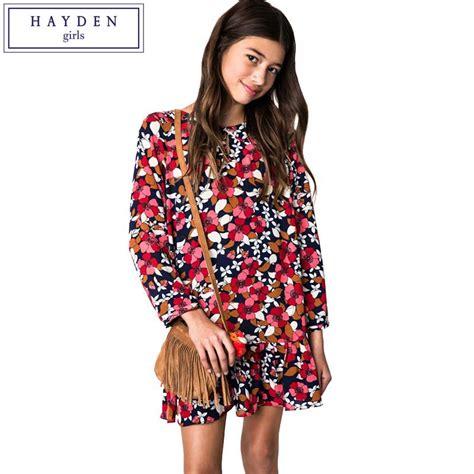 aliexpress europe aliexpress com buy hayden teen girls floral print long