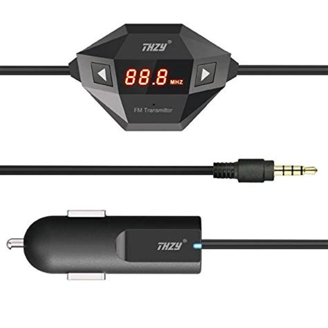 Fm Transmitter 35mm For Smartphone 2010 fm transmitter thzy black wireless fm transmitter with 3 5mm audio and car charger for