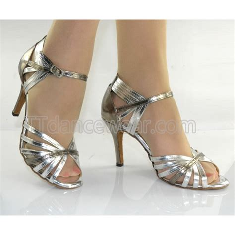 salsa shoes free shipping wholesale silver leather ballroom