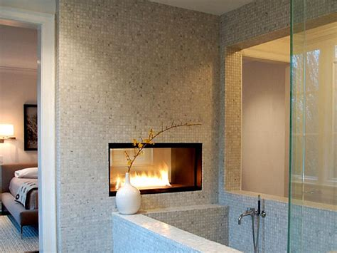 fireplace bathroom modern gas fireplaces hgtv