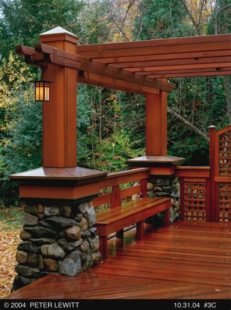 pergola bench craftsman style pergola with bench dream house pinterest