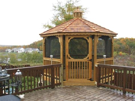 deck gazebo deck screened gazebo deck design and ideas