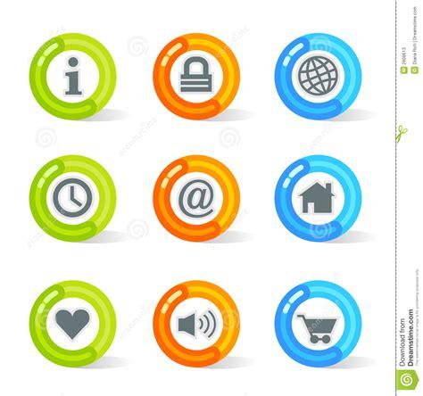 imagenes iconos web iconos del web del gel vector fotos de archivo imagen