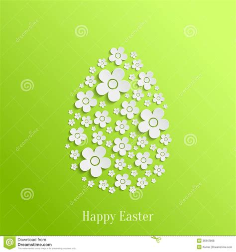 valentines card template egg easter egg of white flowers royalty free stock photos